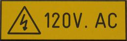 120V AC Warning Sign