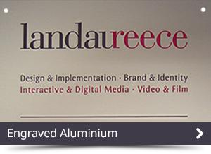 Engraved Aluminium