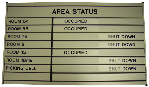Engraved Aluminium Sign
