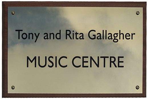 Engraved Music Centre Sign