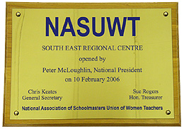 Brass Plaque