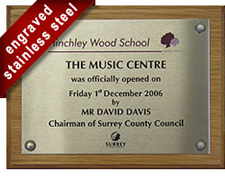 Music Centre Plaque