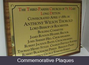 Commemorative Plaques
