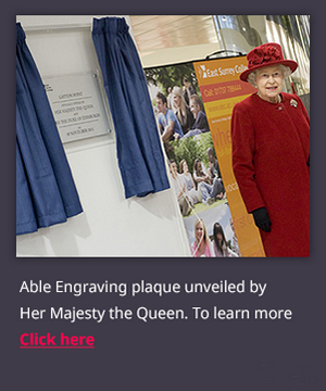 Able Engraving Plaque unveiled by the Queen