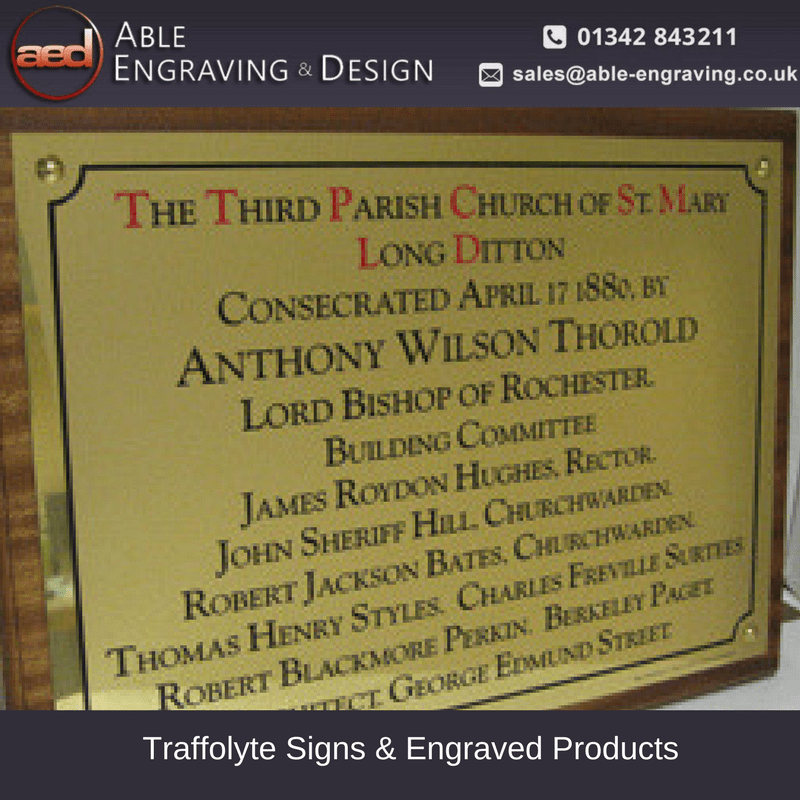 Traffolyte Signs & Engraved Products