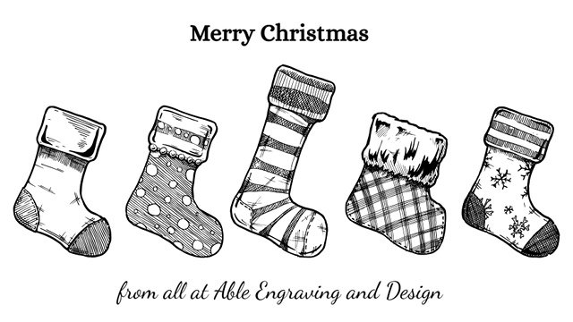 Merry Christmas stockings image by Babich Alexander (via Shutterstock).