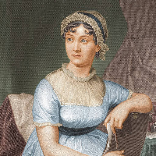 Jane Austen (coloured version), now on the new £10 note.