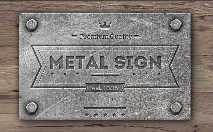 metal engraving