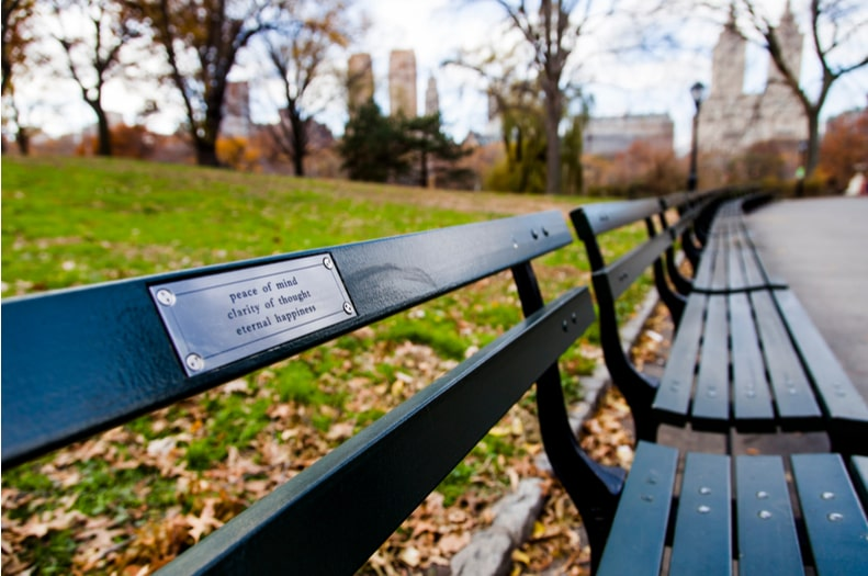 stainless steel bench plaques